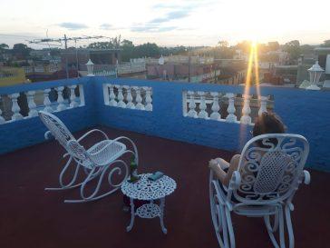 trinidad rooftop sunset