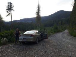 logging road parking sunshine coast trail hike lewis lake to tin hat mountain