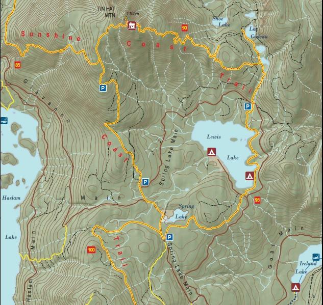 Tin Hat Mountain Map